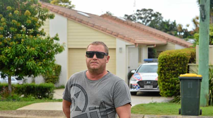 Hamilton Street in Buderim was the scene of pandemonium when a man was allegedly stabbed to death after a heated altercation. Buderim resident Benjamin Fox was sitting in his garage in his jocks having a cigarette when a heated argument broke out next door, resulting in a mans murder.