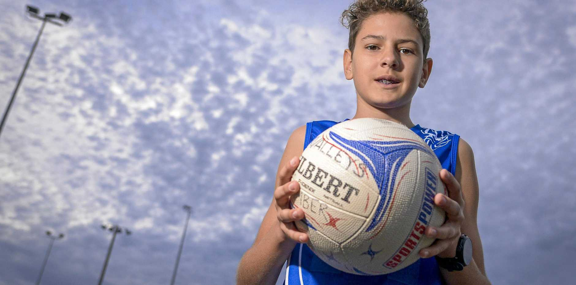 Cooper Castelli is the first male Gladstone Valleys netball player.