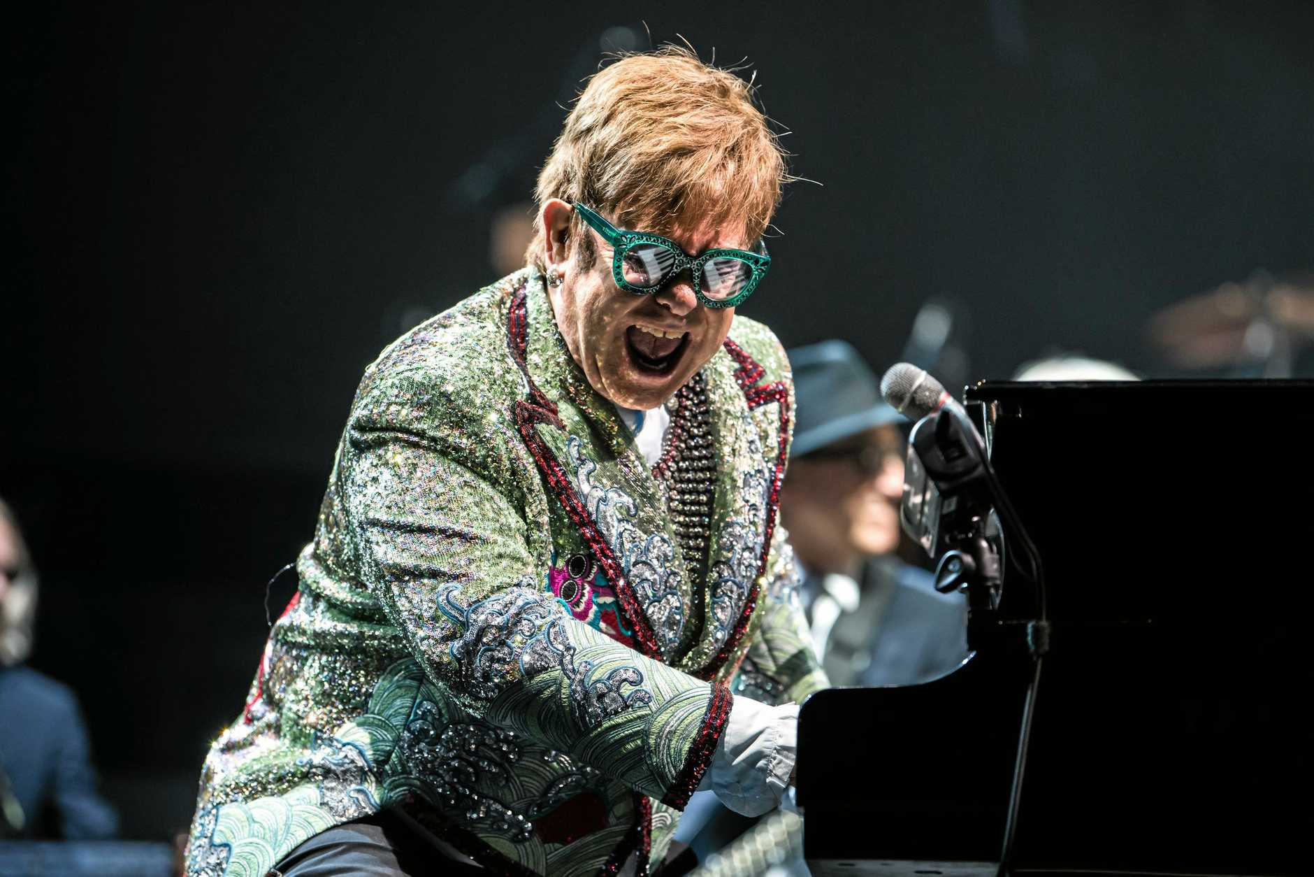 Elton John has extended his Farewell Yellow Brick Road tour for what's expected to be a sell-out show at the Sunshine Coast Stadium.