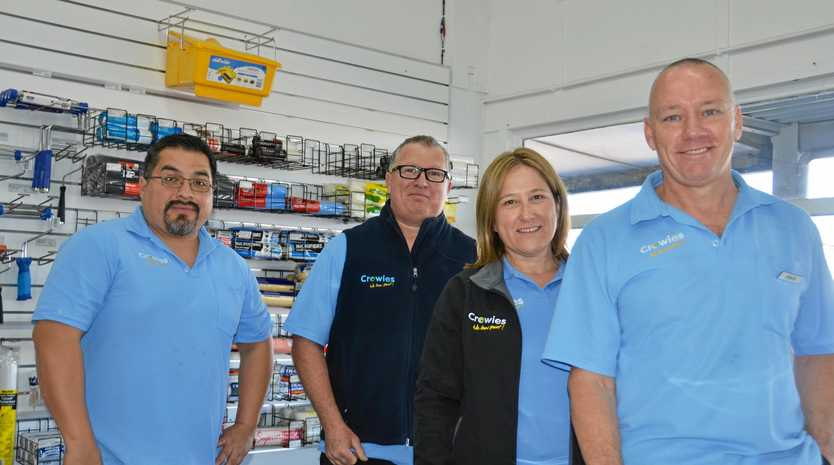 CROWIES CREW: David Rose, Mike Coronel, Gail Gibson and Simon Gibson from Crowies Paints are excited to bring Paintback to town.