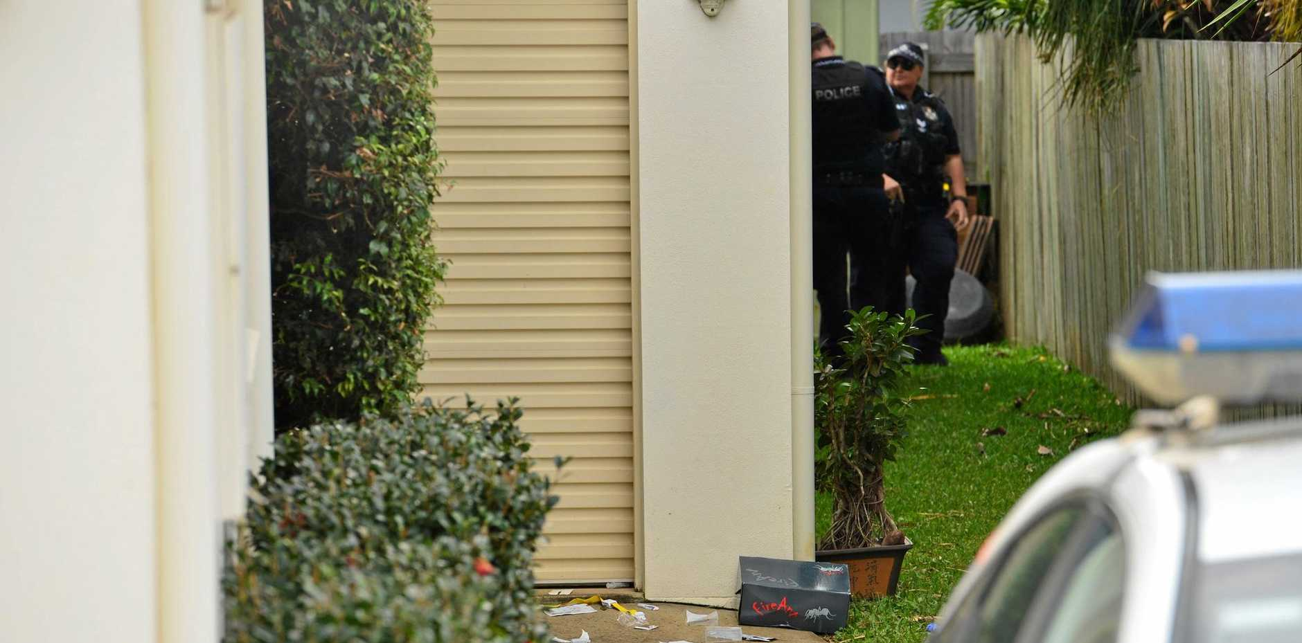 Hamilton Street in Buderim was the scene of pandemonium when a man was allegedly stabbed to death.