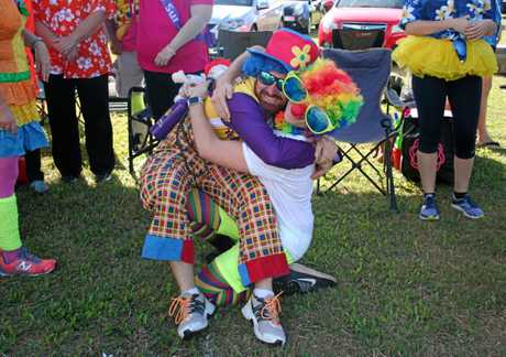 Tania Adda and the Just Clowning Around Team at Sarina Relay For Life last year.
