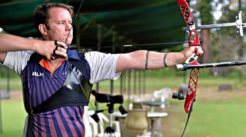 ON TARGET; Sunshine Coast Archery's Ryan Tyack has an aim of making the Tokyo Olympics.