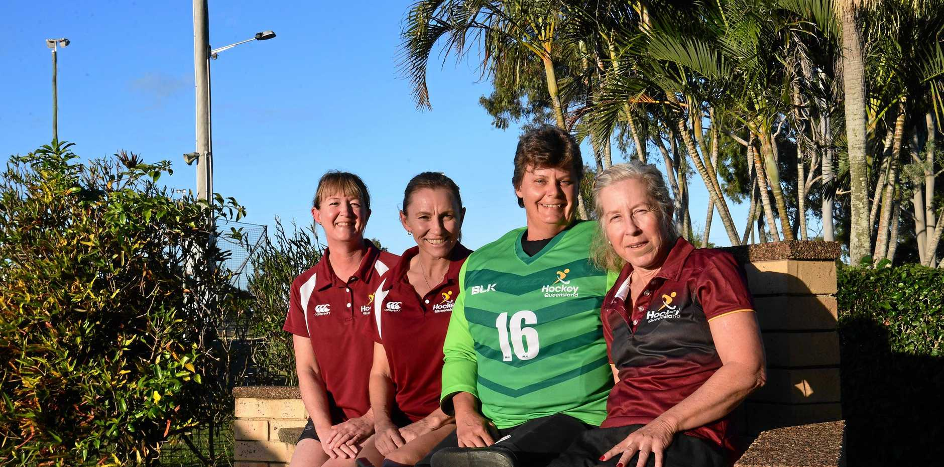 OUR HOCKEY HITS: Bundaberg's Anglea Asnicar, Susan Kendall, Chris Polhmann and Maree Beaumont have been picked for Queensland after doing well at the recent Masters titles for regions. Deborah Burchard, not pictured, has also been selected.