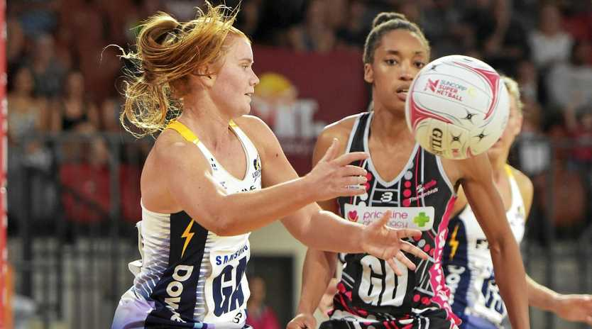 Stephanie Wood of the Lightning during the Round 7 Super Netball match between the Adelaide Thunderbirds and the Sunshine Coast Lightning at Territory Netball Stadium in Darwin, Saturday, June 8, 2019.