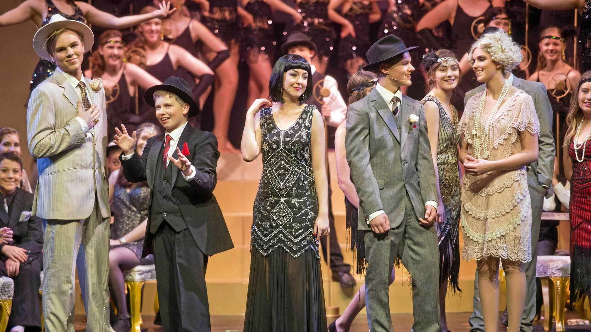 ROARING TWENTIES: Gearing up for their opening night performance of the musical Bugsy Malone are Concordia Lutheran College students (from left) Dion Warren, Josh Lambert, Meg Kirby, James Hancock and Alanah Coverdale.