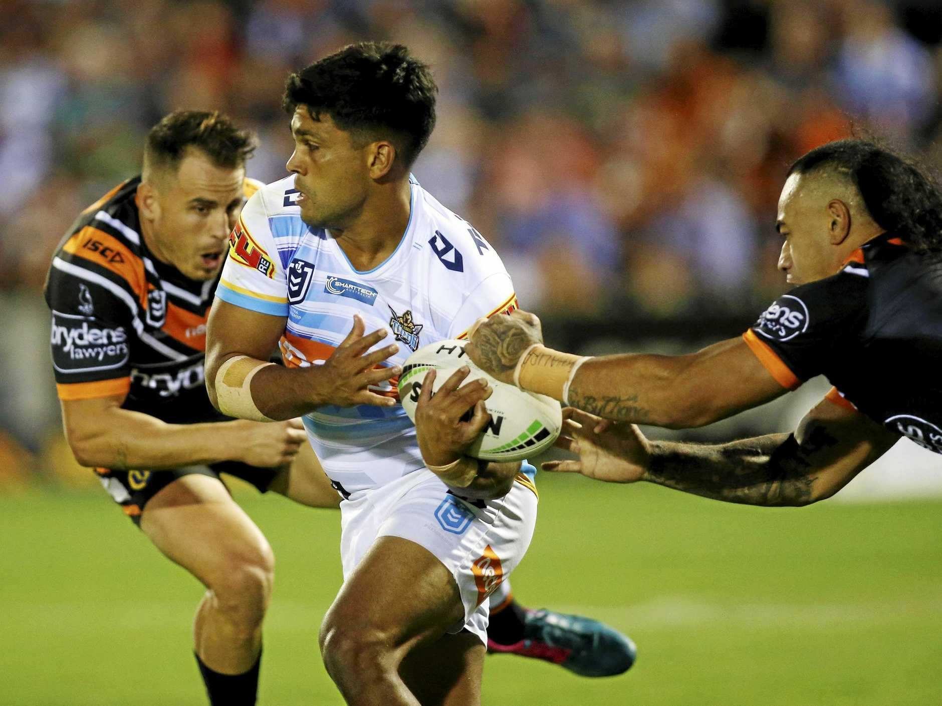 The Titans' Tyrone Peachey is reportedly prepared to opt out of his $1.4 million, three-year deal. Picture: Darren Pateman/AAP