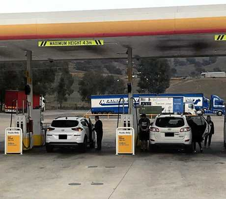 Inconsiderate motorists fill up at the truck only pumps while truckies are forced to wait.