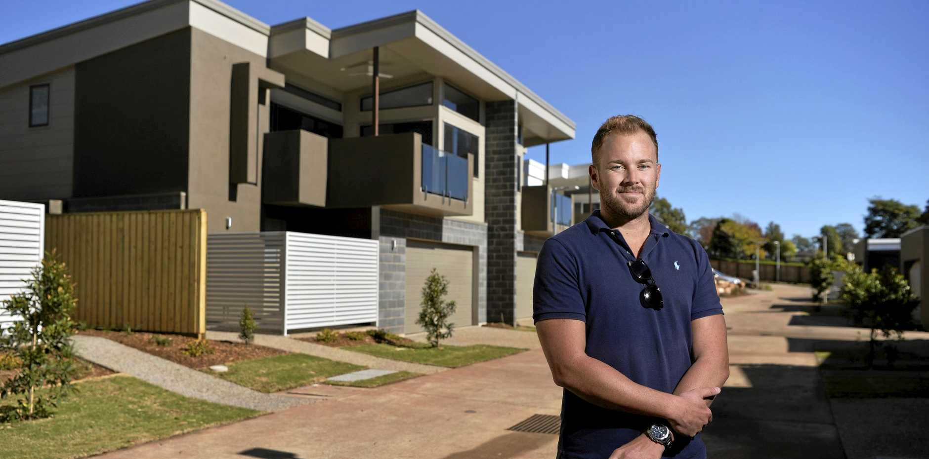 Vantage East Toowoomba developer and Weldev Group director Adam Webb on site at the premium gated community on Tourist Rd, Tuesday, June 11, 2019.