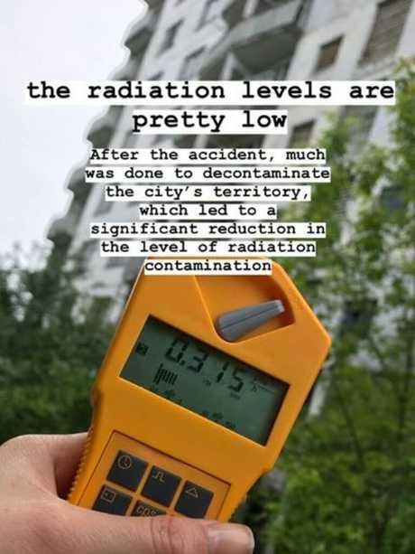 Influencers are visiting despite Chernobyl's lingering radiation.