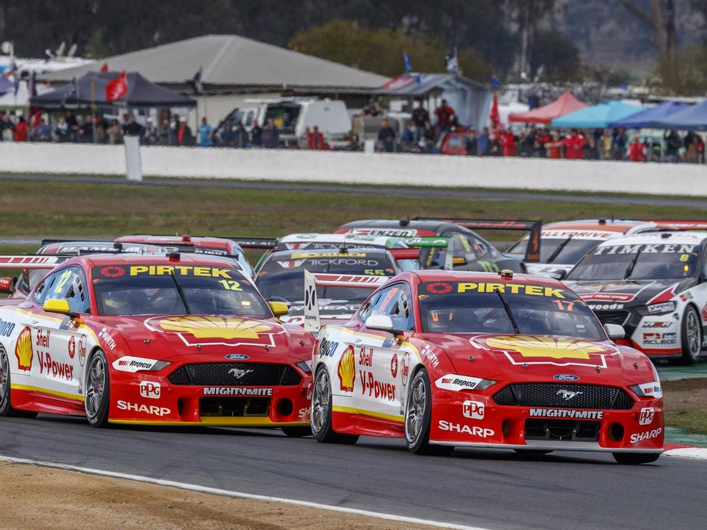 Scott McLaughlin on his way to victory at Winton last round.