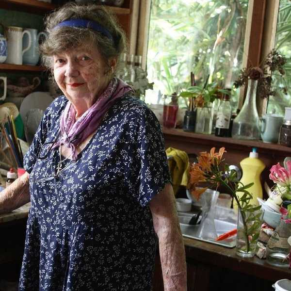 Margaret Olley in her home.