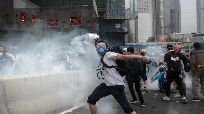 Hong Kong protester dies after fall