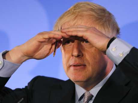 Boris Johnson sees leadership in his future. Picture: AP