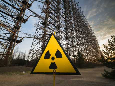 The abandoned radar system near the Chernobyl nuclear power plant. Picture: Supplied