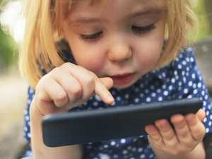 Two-year-old's horrific phone addiction