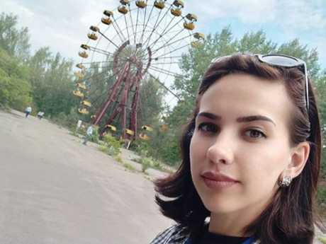 Glamorous selfies near the deserted theme park ferris wheel are especially popular. Picture: Instagram