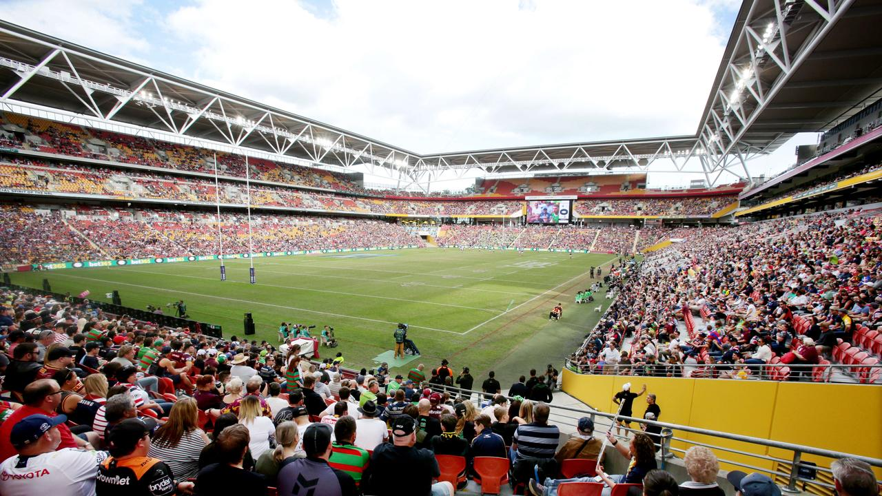 Suncorp is widely counted as one of the top rugby league stadiums in the world. Image AAP/Steve Pohlner.