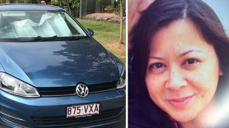 Missing American woman Priscilla Brooten (right) and her blue Volkswagen Golf. Police are excavating the yard of a north Brisbane home as part of an investigation into the suspected murder of missing American woman Priscilla Brooten.