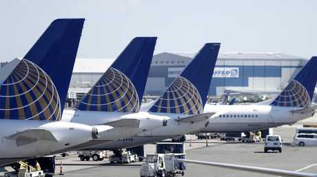 The passenger was on-board a United Airlines flight when he found the mould in his snack. Picture: Julio Cortez, File.