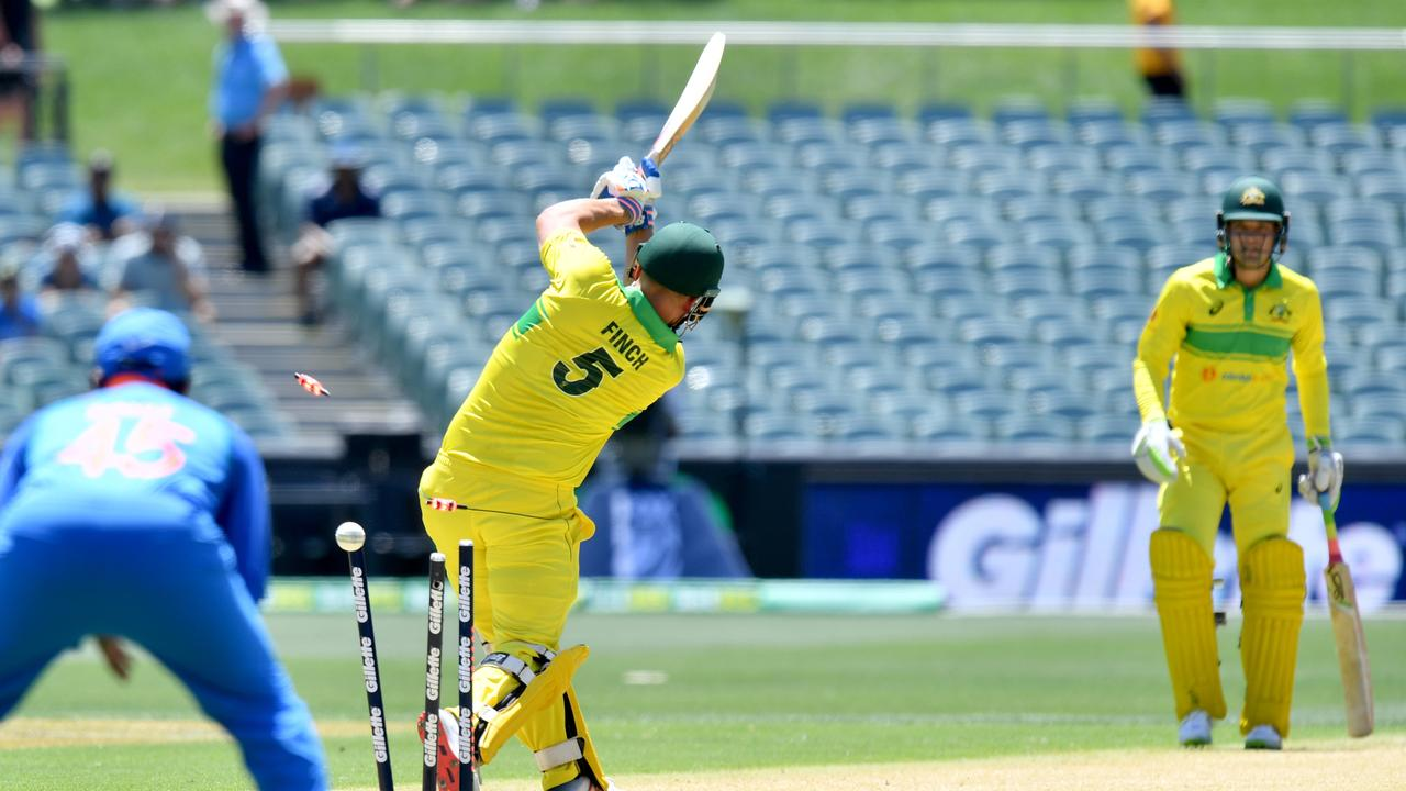 Finch's stumps were rattled regularly throughout January as well. Picture: AAP