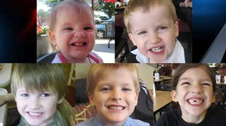 Top-left to bottom-right: Abigail Elizabeth, Gabriel, Nahtahn, Elias and Merah kids of Timothy Jones and Amber Kyzer