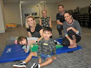 Physios and parents work together to help young children