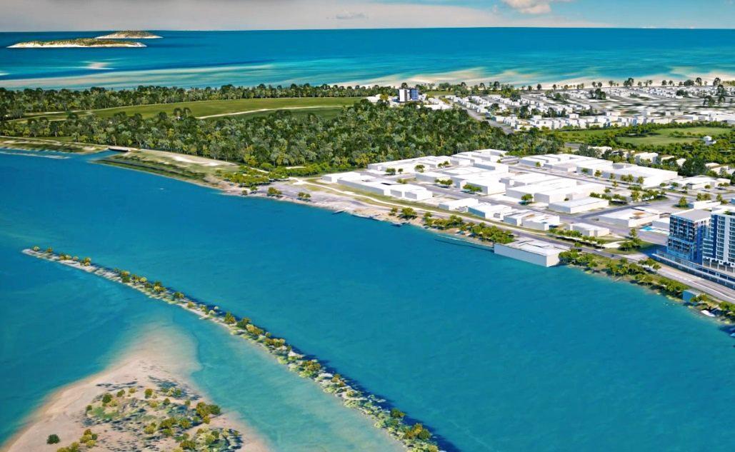 An artist's impression of the Mackay Waterfront PDA's enterprise precinct.