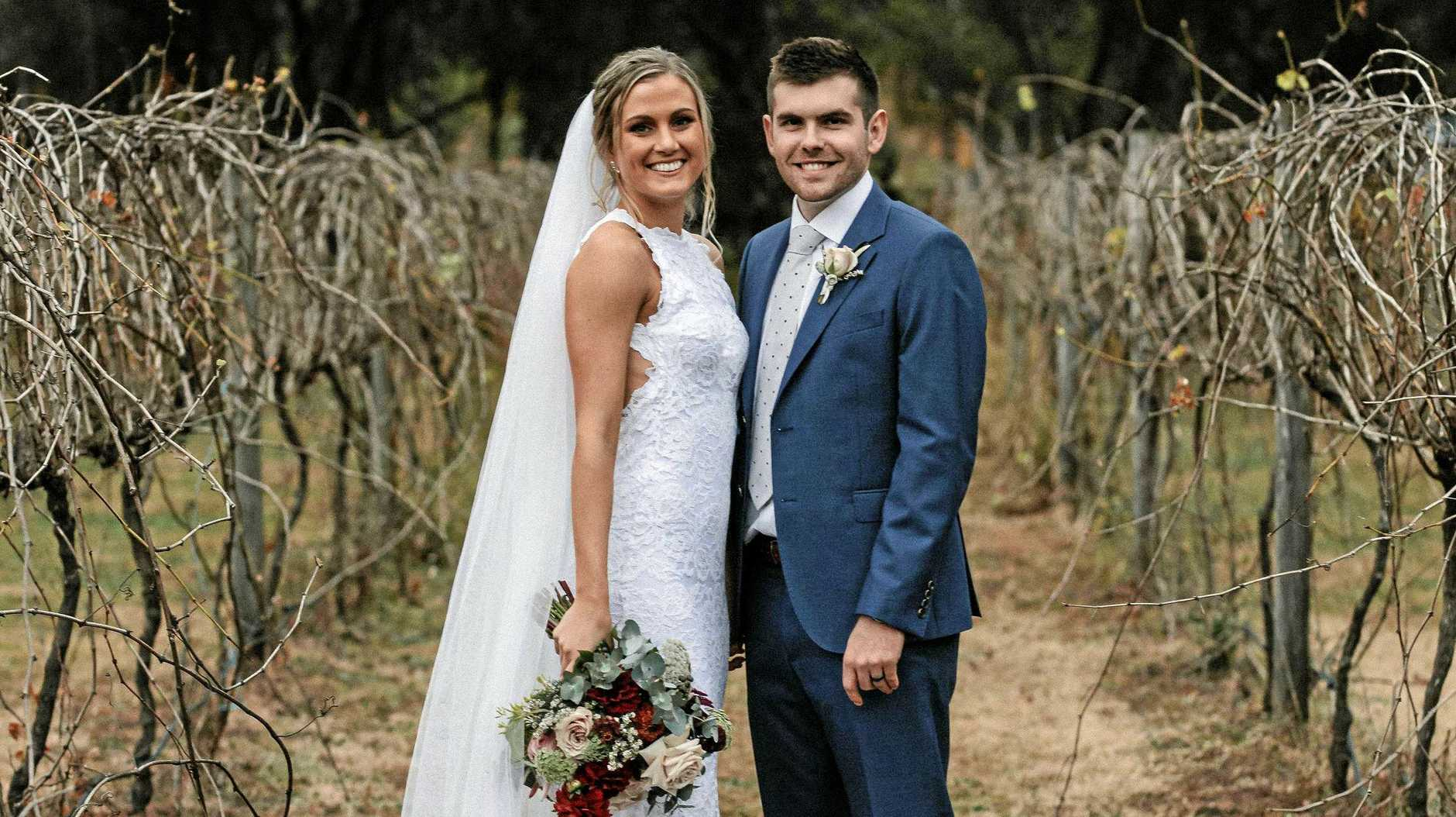 HAPPY COUPLE: Newly-married Ipswich Force basketballers Jason and Georgia Ralph will be playing in the state league this weekend.