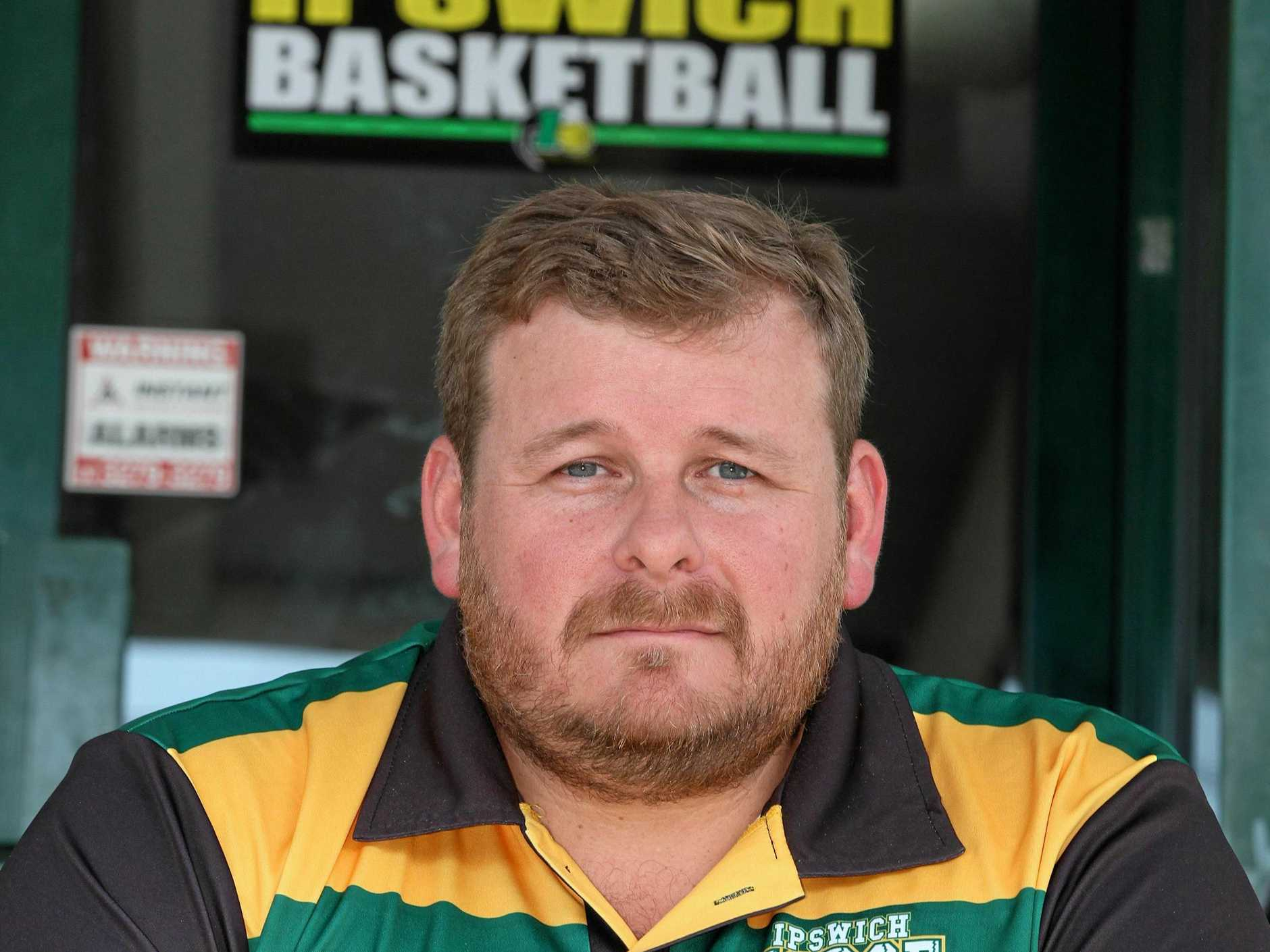 New Ipswich Force state league basketball men's coach, Chris Riches at the Ipswich Basketball Stadium.