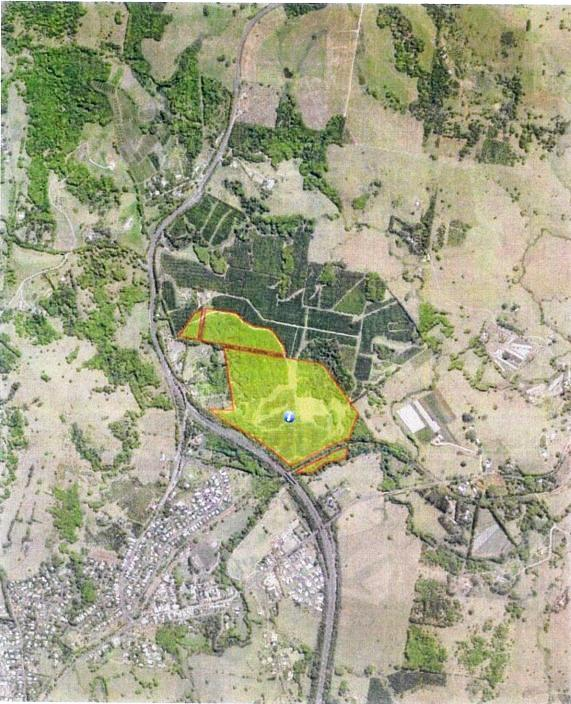 THE HILL: The proposed location of the new development in Bangalow submitted to Byron Shire Council.