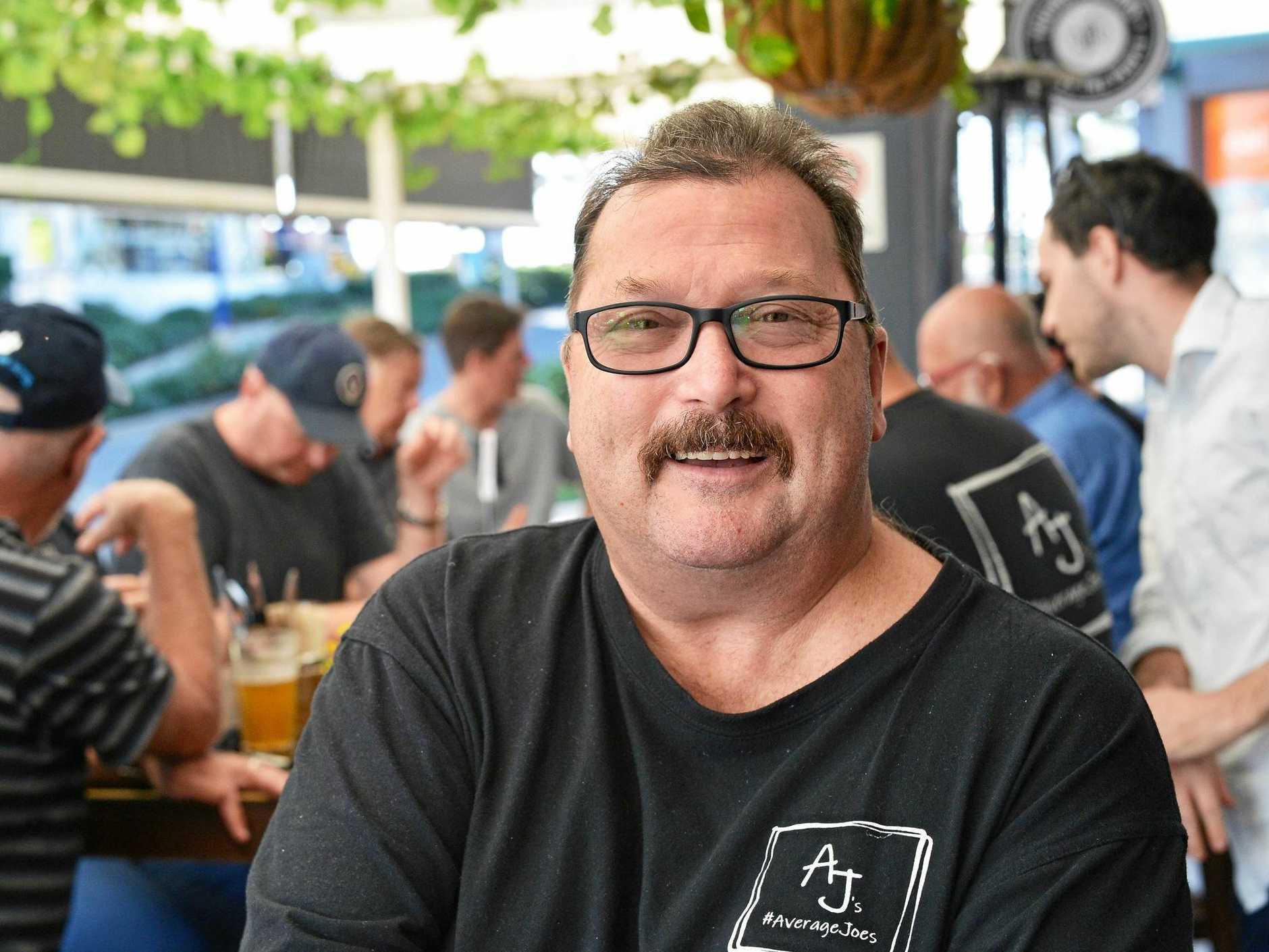 Coast men's health group member Richie Cording says Average Joes has saved his life.