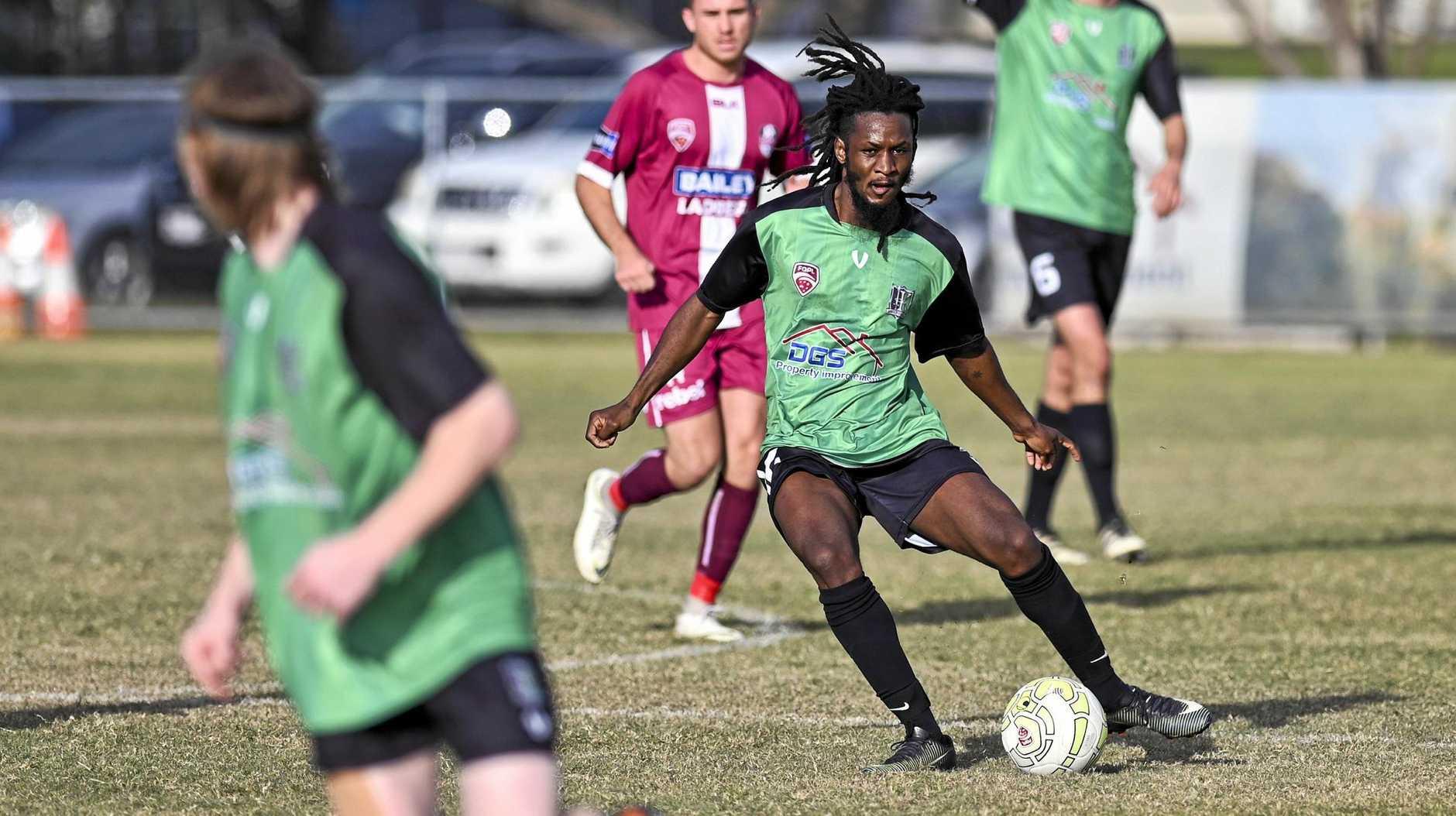 Ipswich Knights attacking midfielder Emmanuel Peter.