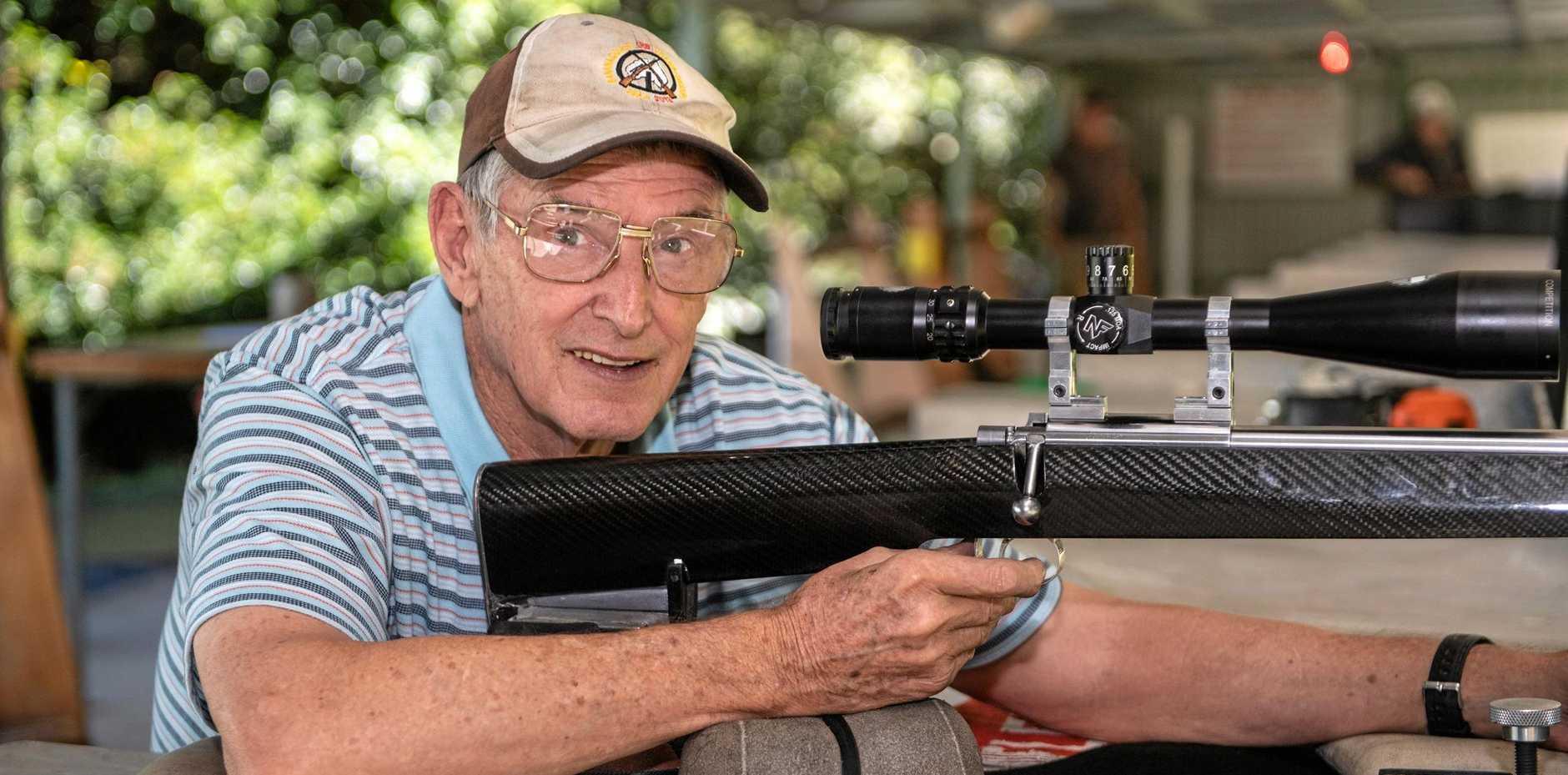 Coffs Coast shooter Greg Sutherland won a recent rimfire target shooting title at the Koolinghat range near Taree.