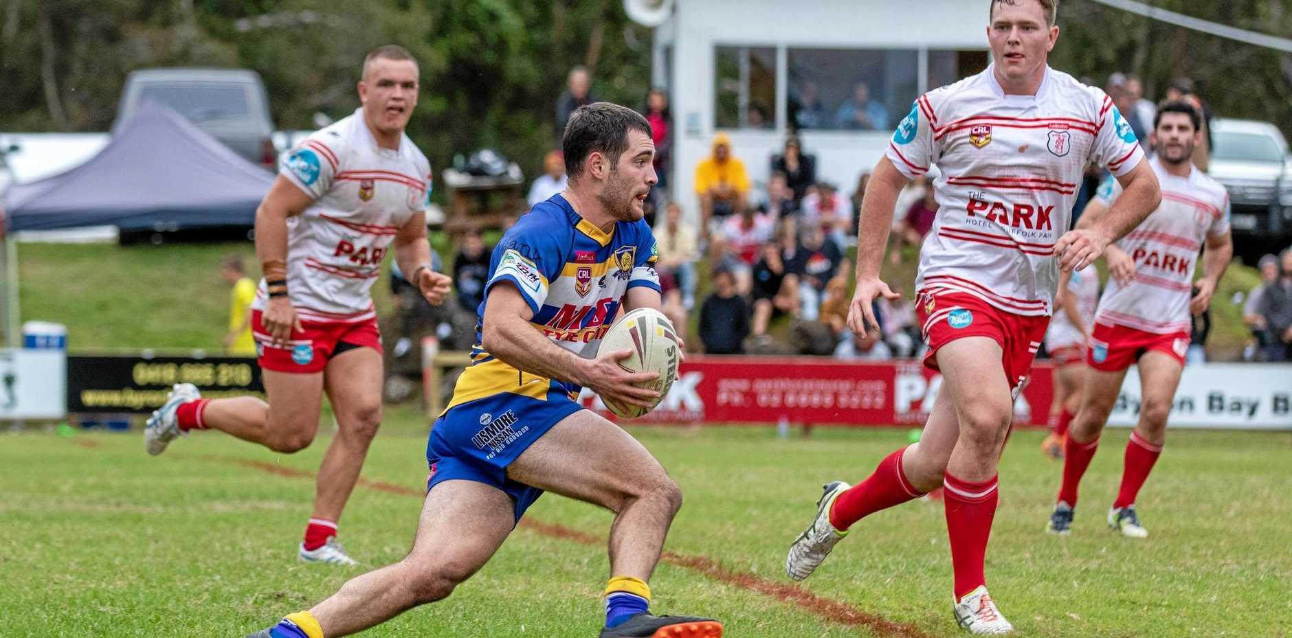 Marist Brothers fullback Jacob Follent against Byron Bay in NRRRL.