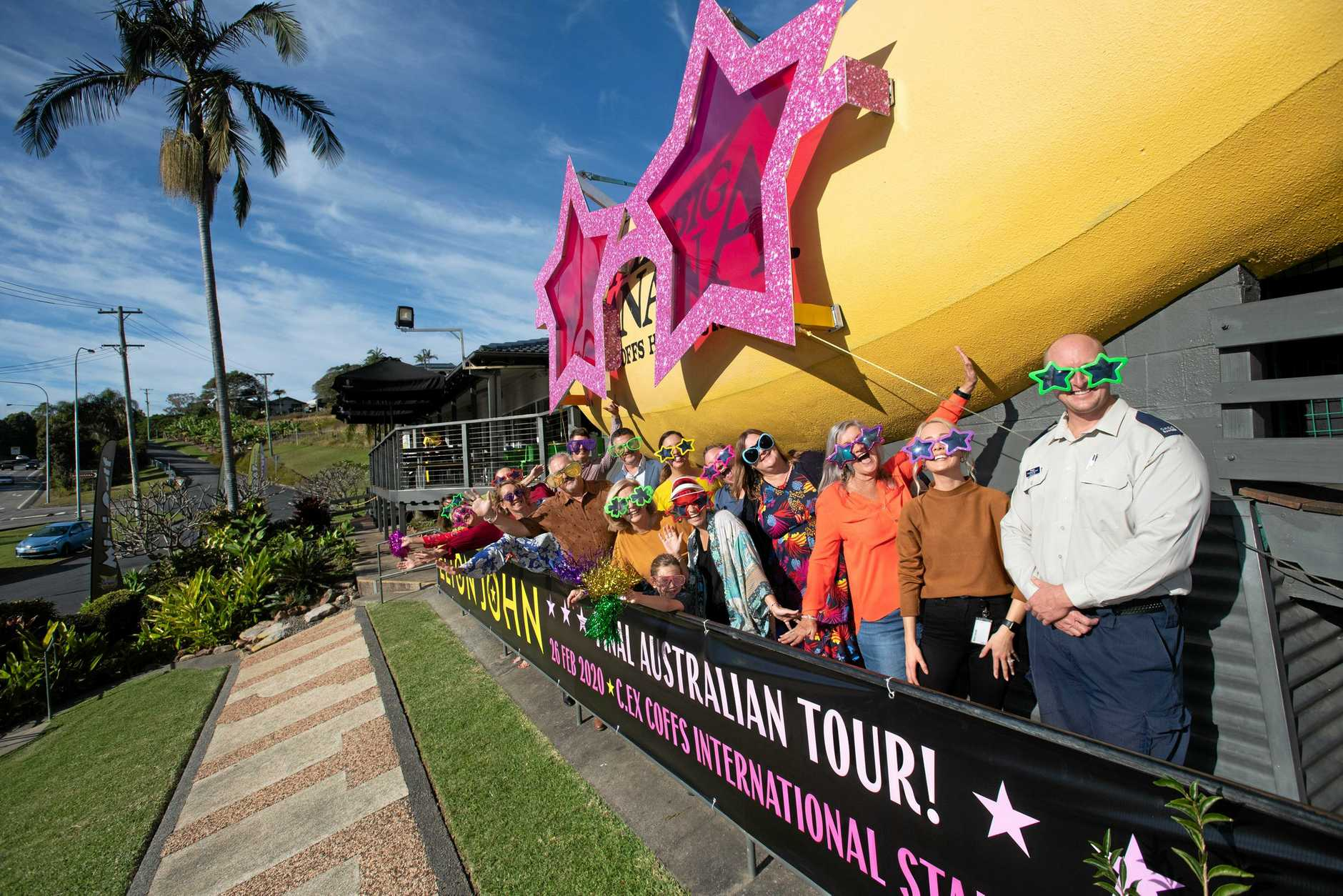 ELTON INSPIRED: The Big Banana's tribute to Rocketman.