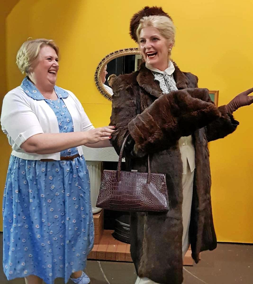 Leanne Bamford and Virginia Gray have been busy rehearsing for the past 12 weeks for the Ipswich Little Theatre's new production, The Cemetery Club.