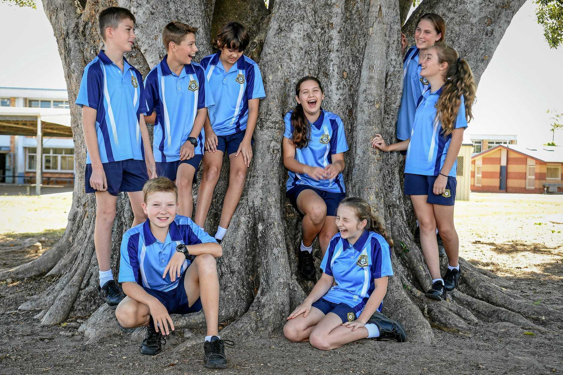 Bundaberg High School students, Chris Collins, Sam Stuchbery, Josh Anderson, Scarlett Wallace, Lucy Steindl, Cadence Taylor, Fletcher Churchill and Sarah Warren.