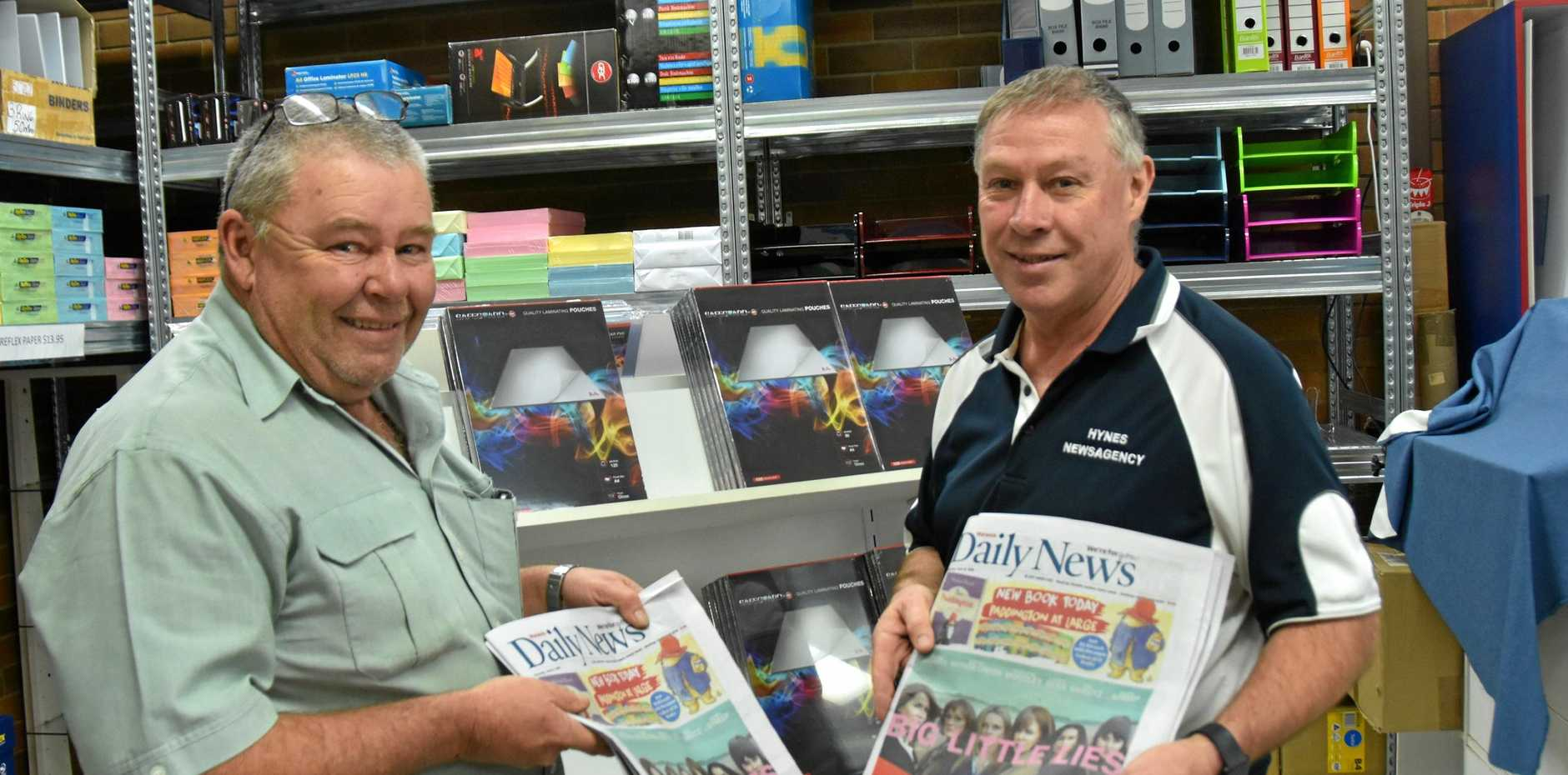 Happy National Newsagent Week to the hard-working Warwick brothers Peter and Paul Hynes, at Hynes Newsagency.