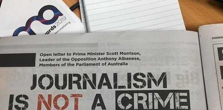 AFP NONSENSE: Full Page advertisement in the Courier Mail signed by almost 40 of Australia's most successful and respected journalists.