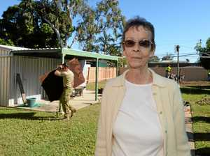 Widow enjoys her yard for the first time since Ray's death