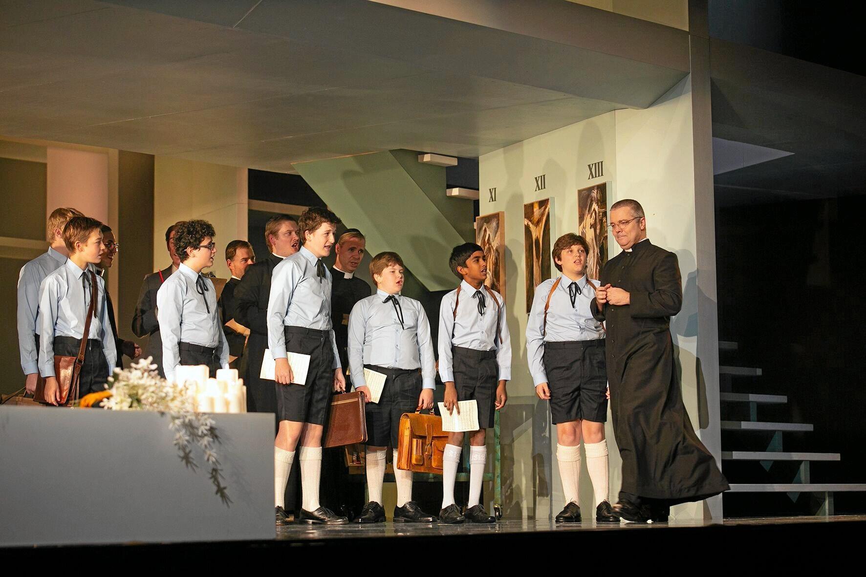 The choir with Sacristan and Gaoler Shaun Brown.