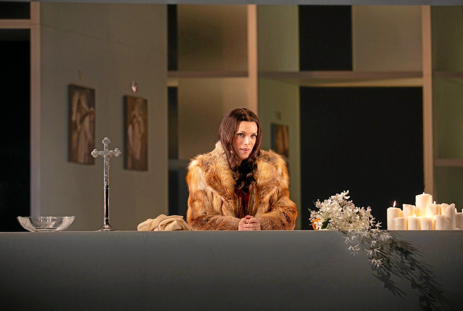Australian soprano Rachelle Durkin in the lead role in Tosca.