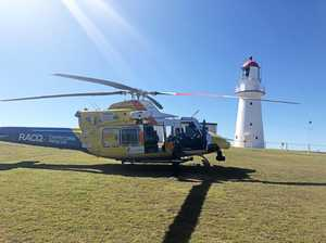 Woman airlifted to hospital south of Gladstone