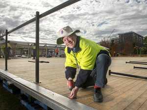 Building begins on Toowoomba pop-up ice skate rink