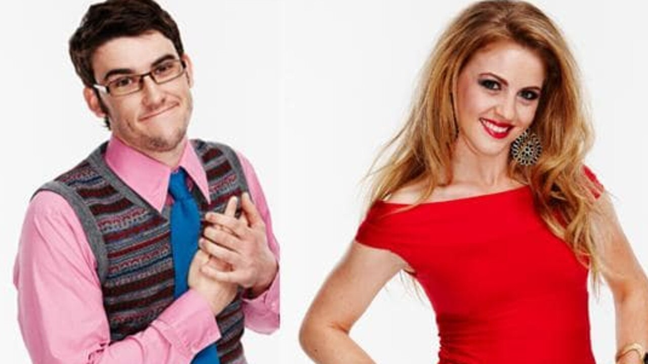 Lachlan and Jordan in a promo shot for Beauty and the Geek.