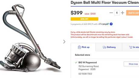 … and the Dyson Ball Multi Floor Vacuum Cleaner is now retailing for $399, after $100 off.
