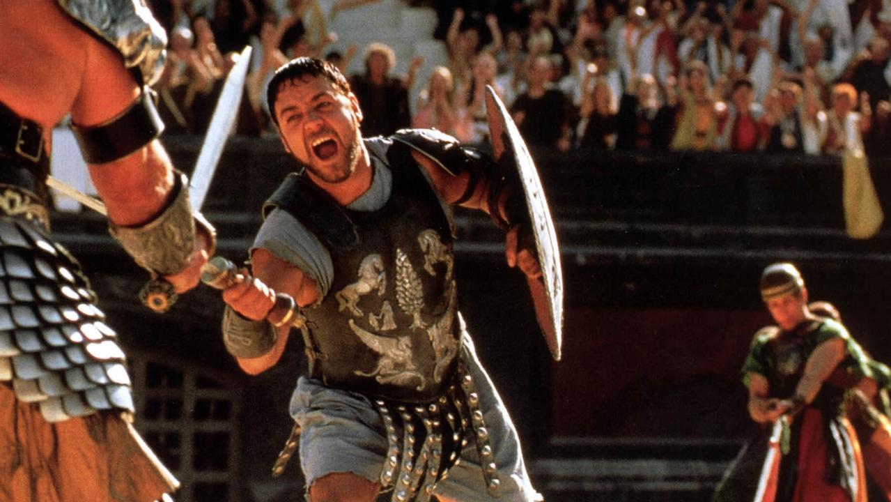 Russell Crowe in a scene from Gladiator, released in 2000.