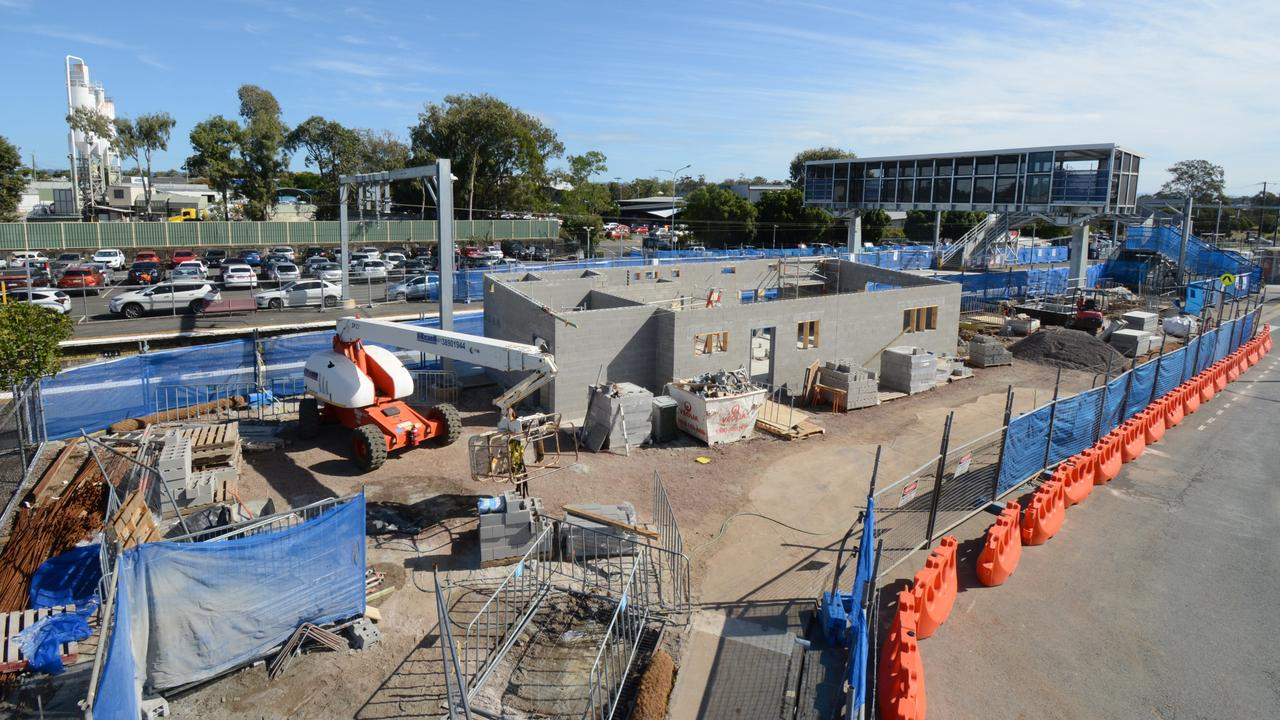 Work is gathering pace on the massive Morayfield station upgrades.
