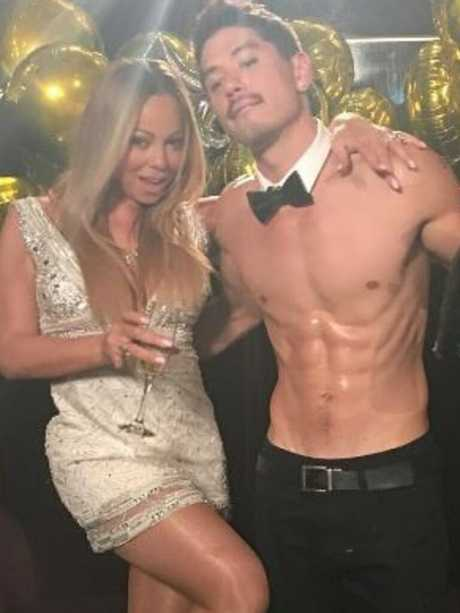 Mariah Carey and Bryan Tanaka. Picture: Supplied